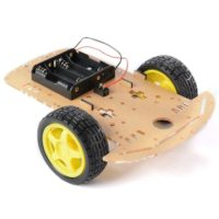 Kit chassis Robot à 2 roues transparent