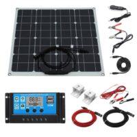 Kit Panneau solaire 50W avec contrôleur de charge