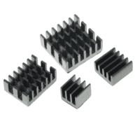 Ensemble dissipateur de chaleur 4 en 1 en aluminium Noir Pi 4B