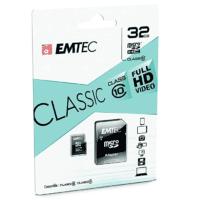 Carte mémoire micro SD 32 GB avec adap EMTEC