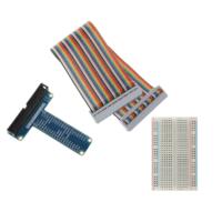 Kit carte de dérivation GPIO de type T avec câble à 40 broches et Plaque d'essai 400 pt pour Raspberry Pi 3